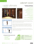 Cabinet Vision Solid Ultimate for Closets Data Sheet