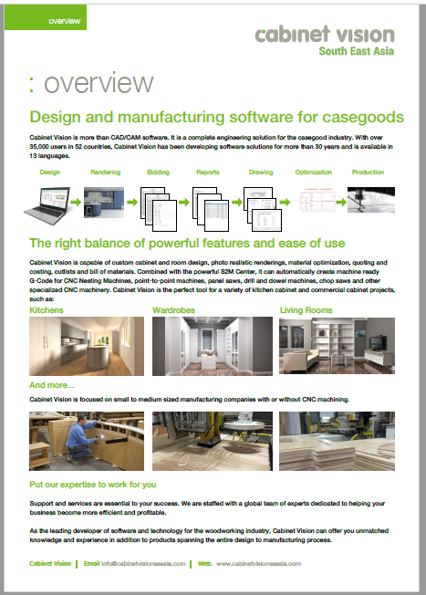 Cabinet Vision Overview Brochure