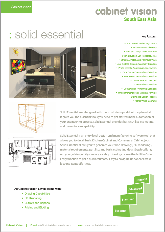 Cabinet Vision Solid Essential Brochure